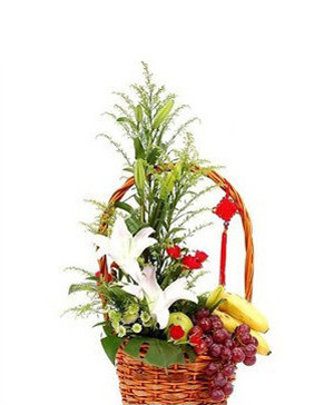 Flower & fruit basket A