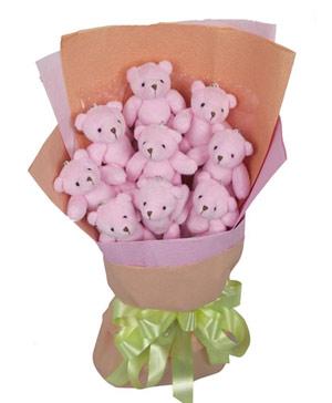 9 Teddy Bear Bouquet