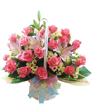 Best Wishes Flower Basket