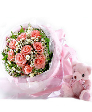 send flowers and bear to china