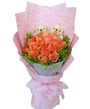 17 pink roses arrangements China