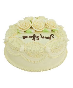 yellow cream and flowers cream fresh milk cake China
