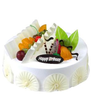 fresh milk fruit cake
