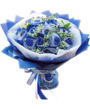 send blue roses China