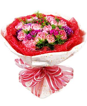 carnations hand bouquet