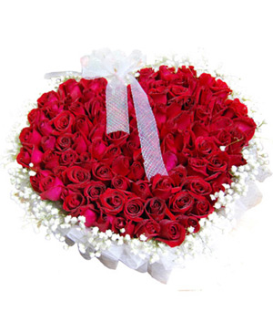 99 red roses basket delivery China
