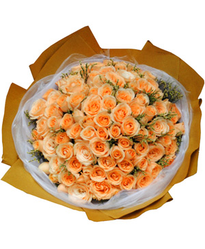 99 champagne bouquet flowers to China