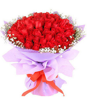 Sending 66 red roses bouquest by China florist