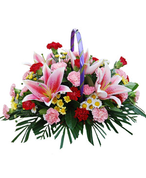 Flower Basket to China